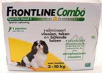 FRONTLINE COMBO DOG SMALL 2-10KG. 3PIP.